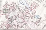 Sketch for the first final battle by lalindaaa
