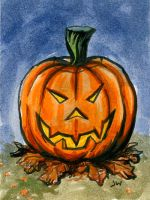 Jack O' Lantern Sketch Card ACEO by Stungeon