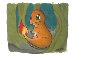Background Practice: Charmander by Randomous