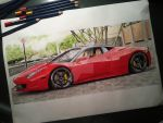 Ferrari 458 drawing by KacperMamcarcyzk