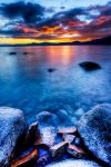 A Late Spring Tahoe Sunset by sellsworth