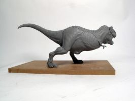 Tyrannosaurus rex finished sculpt 3 by Thomasotom