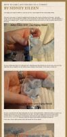 Adding Lace Edging to a Corset by sidneyeileen