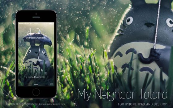 Totoro | Wallpaper for iPhone, iPad, and Desktop by mariesturges