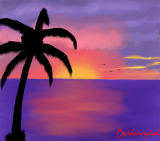 Caribbean Sunset by darkervapid