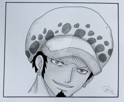 Trafalgar Law sketch by ViivaVanity
