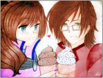 Gift for Me: Sharing Ice Cream by NintendoGamer5000