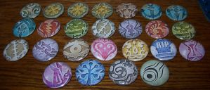 TWEWY Pins - Pavo Real by Paradise-Props