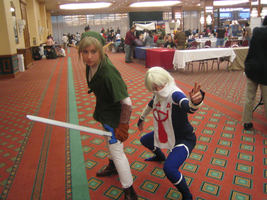 Link and Sheik Cosplay by Sheikah-ness