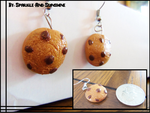 Chocolate Chip Cookie Earrings by Sparkle-And-Sunshine