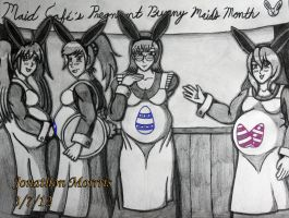 Pregnant Bunny Maids by JAM4077