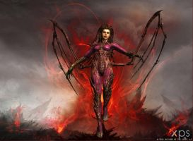 XNALara: Sarah Kerrigan infected (download) by Tokami-Fuko