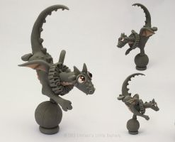 Achillies the Circus Dragon - unpainted by LitefootsLilBestiary