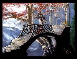 Arwen on a Bridge by RenaeDeLiz