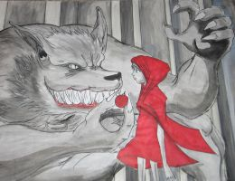 Little Red and Big Bad Wolf by MonkeyTheMan