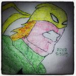 Napkin Art 202 - Iron Fist - Ultimate Spiderman by PeterParkerPA
