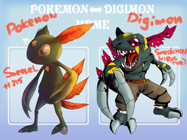 : Pokemon To Digimon Meme : by dar-a