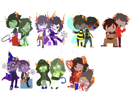 Homestuck Keychains and Stickers 1 by breezelessvanity