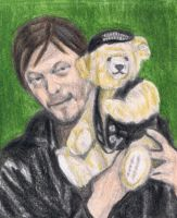 Norman Reedus as Judas with Harley Davidson bear by gagambo