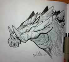 Inktober day 13 - Dragon by nary-san