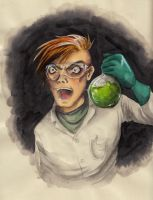 Scientist with cromiumoxide solution in whatever by MajorKoryu