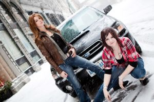 Samantha and Deanna-Supernatural Females by ryoky28