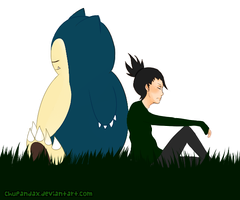 Sleeping - Snorlax and Shikamaru by Chupandax