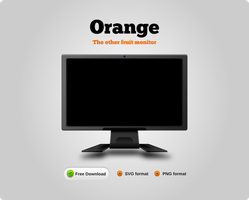 Orange Monitor by uberdiablo-pixels