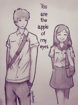 you are the apple of my eyes cover by cherry1812