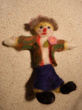 needle felt scarecrow by dragonbrain