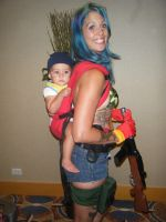 Liberty city anime con Bulma and baby trunks by gamemaster8910