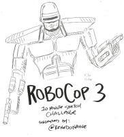 RoboCop3 10 Minute Sketch Challenge by MonkeySquadOne