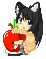 Apple Neko by Love-The-Nekos