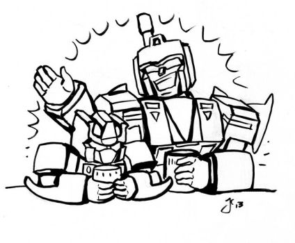 Blast Off and Blitzwing at a Bar by WolfWhiskers