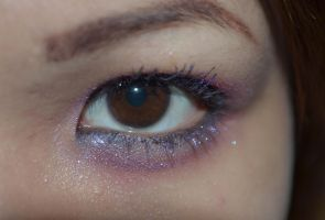 Dark Brown Eyes Sparkly Purple Lashes 3 by mimx-Stock