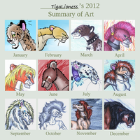 2012 Summary of Art by TigaLioness