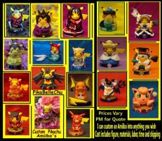 PikaBelleChus Custom Amiibo's by pikabellechu