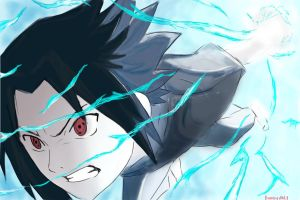 Sasuke Chidori by Bloody-Mary20