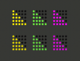 Review and Rating Stars PSD by terrenceforever
