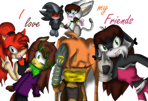 Gift Art - I love my friends by sylvy106
