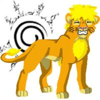 Naruto lion colored by LonewolfshadowUchiha