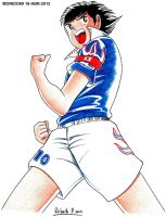 OLIVER ATOM-CAPTAIN TSUBASA (MARKER-COLOR) by MUERTITO69