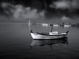 the little white boat by VaggelisFragiadakis