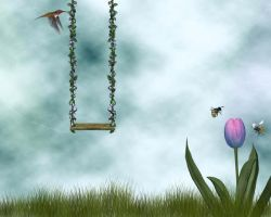 Swingin' in Spring Bg2 by Junk-stock