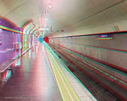 Chueca Metro Station - Madrid (Spain) - 3D (rd/cy) by nadamas
