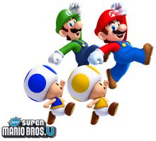 New Super Mario Bros. U: The Four Heroes by Legend-tony980
