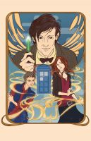 The Eleventh Doctor and the Ponds by yienyien