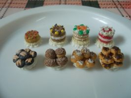 Miniature Kawaii Deli-Counter3-Desserts by MayaElixir