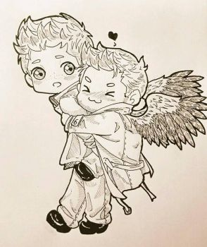 Dean's angelical backpack xD by XInkRibbonX