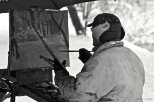 Painter in the snow by swrut